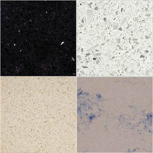 Quartz variations used at Brighton Granite kitchen worktops