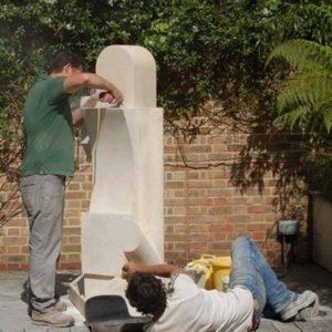 Brighton Granite - Darren and collegue in action