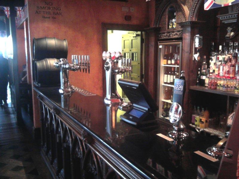 Black granite bar top