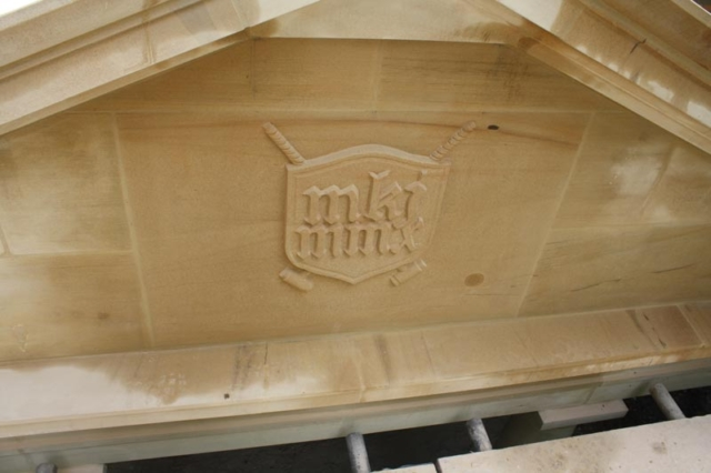 Hand Cut Bath Stone Plaque