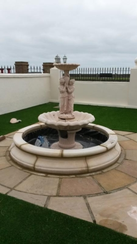 Installation of Stone Water Feature