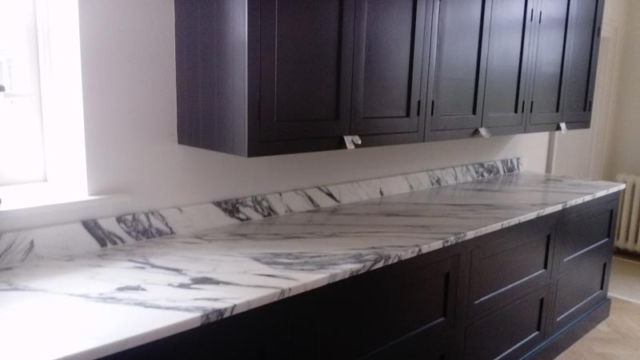 Arabescata Worktops with Upstands