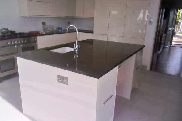 Black Granite kitchen worktop