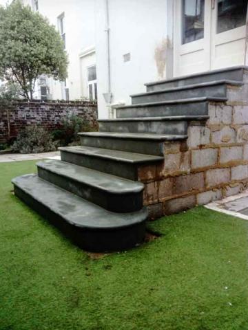 York stone steps