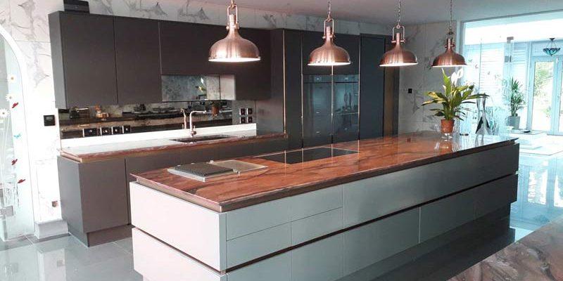 granite sharknose edge detail with granite kitchen worktop