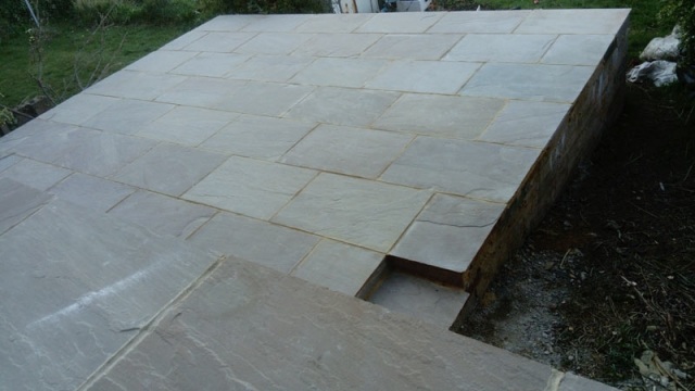 indiaandstone patio