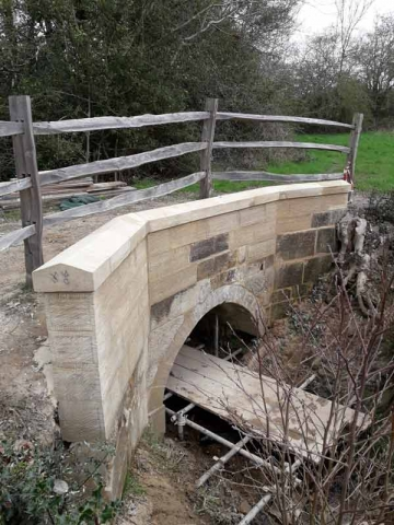 sandstone bridge restoration