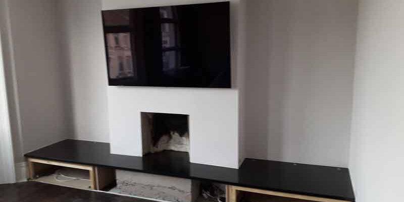 Contemporary Slate Fireplace