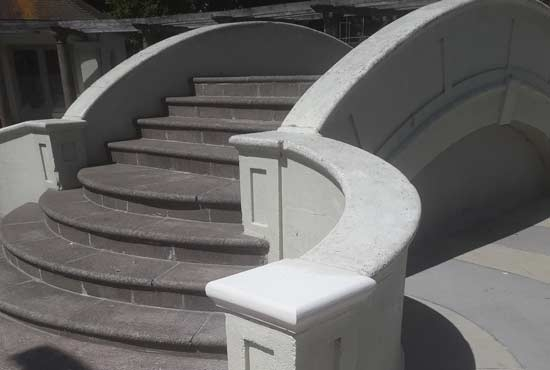 Portland stone pier cap